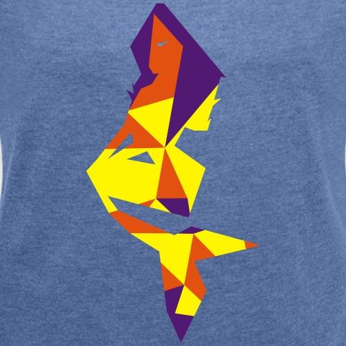 Sirene géometrique - T-shirt à manches retroussées Femme