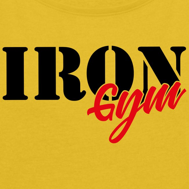 iron gym logo black
