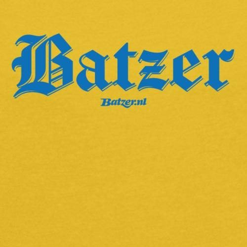 Batzer gothic blauw Dames - Vrouwen T-shirt met opgerolde mouwen