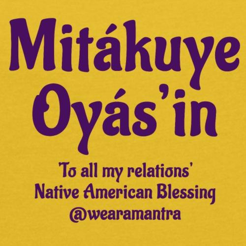 Mita kuye Oyas'in purple - Maglietta da donna con risvolti