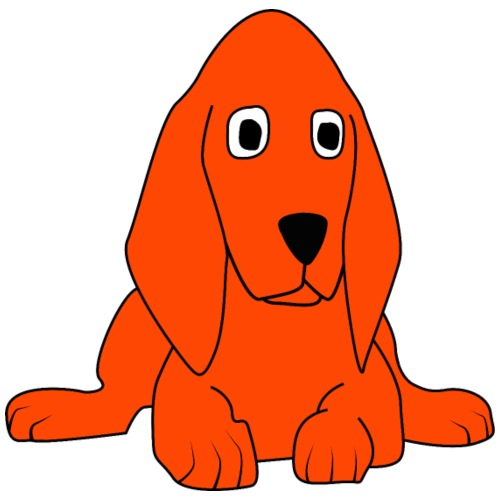 orange dog - Maglietta da donna con risvolti