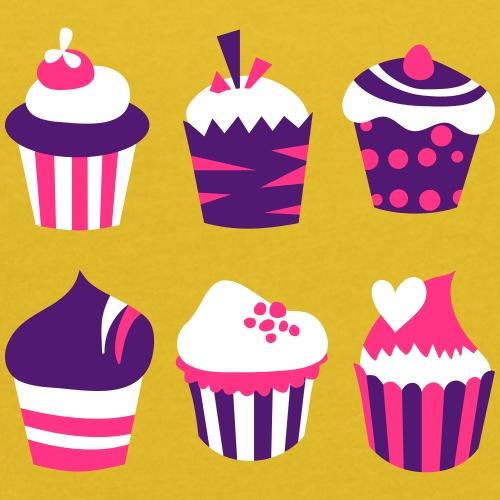 Cupcakes bien-être - T-shirt à manches retroussées Femme