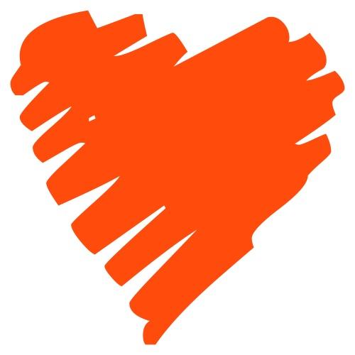 Cool heart strokes design