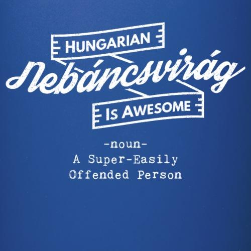 Nebáncsvirág - Hungarian is Awesome (white fonts) - Full Colour Mug
