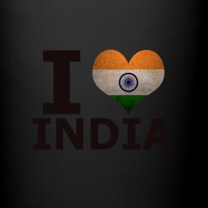 I LOVE INDIA FLAG - Ensfarget kopp