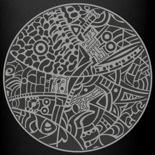 GlobeDesign-grey - Ensfarvet krus