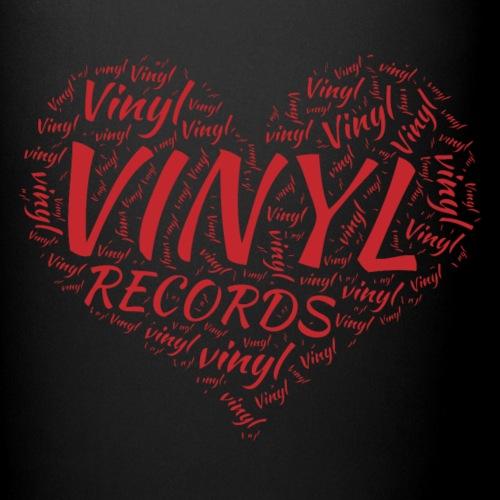 I Love Vinyl Records Heart - Full Colour Mug
