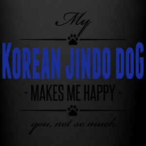 My Korean Jindo Dog makes me happy - Tasse einfarbig