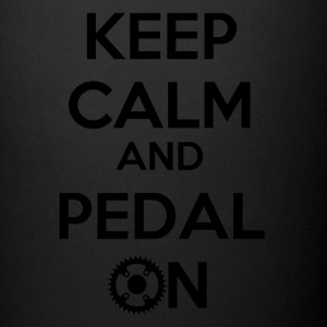 Keep Calm and Pedal On! - Tasse einfarbig