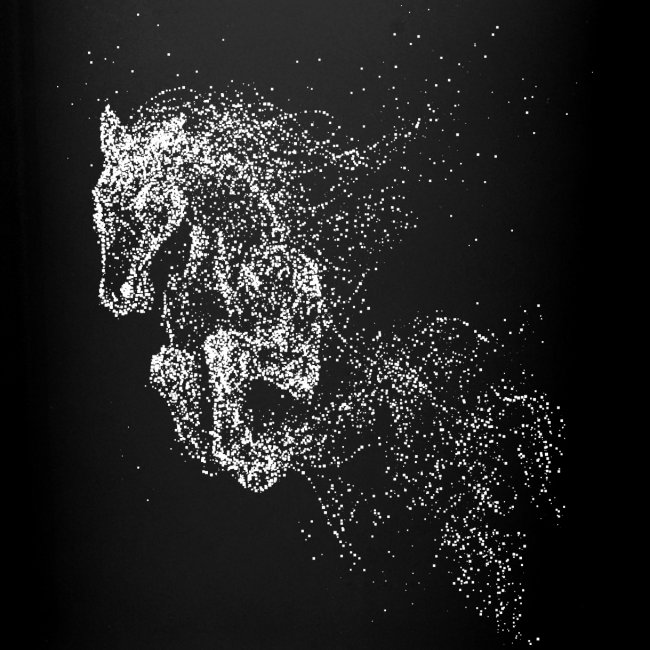 Vorschau: jumping horse white - Tasse einfarbig
