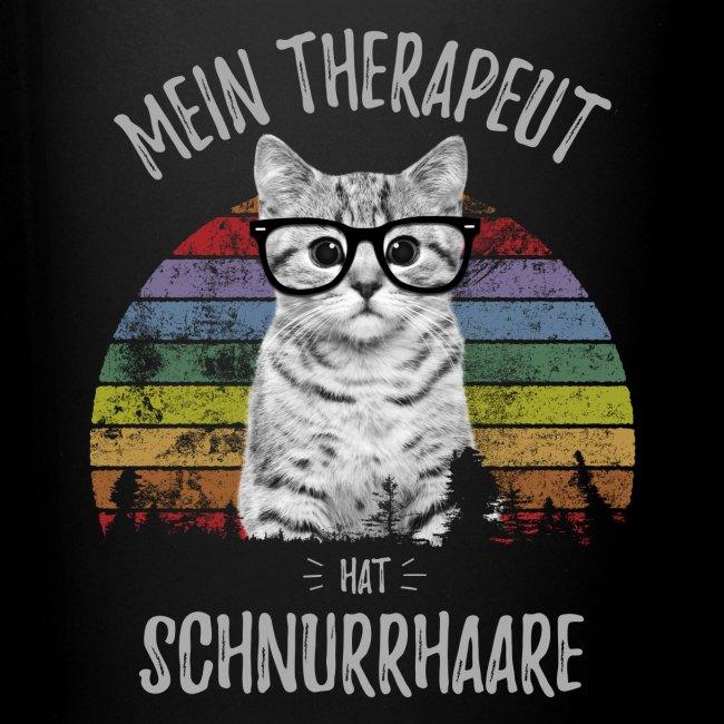Vorschau: Therapeut Katze - Tasse einfarbig