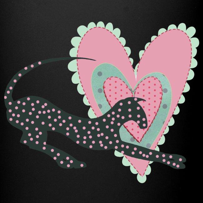 Rosa prickar hjärta