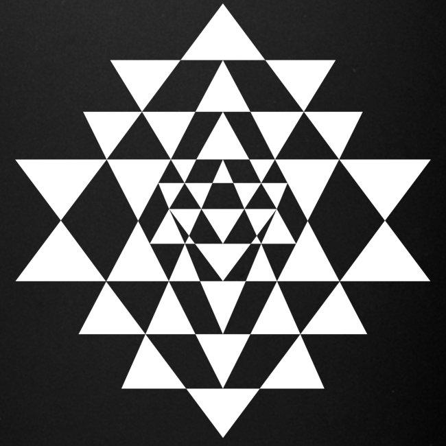Valkoinen Shri Yantra -kuvio