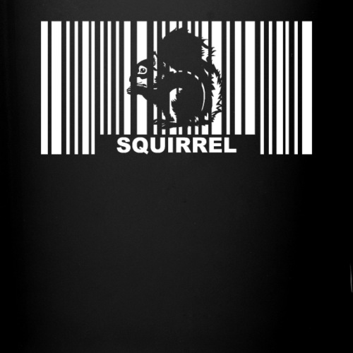 Eichhörnchen Barcode - Tasse einfarbig