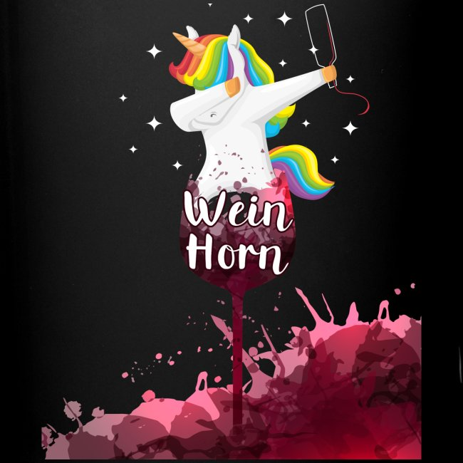 Weinhorn Splash Einhorn Design