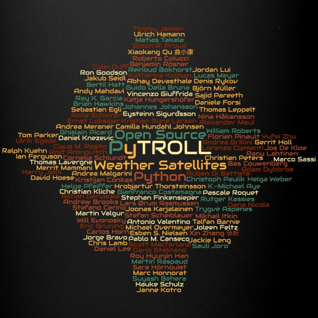 Pytroll wordcloud march 2019