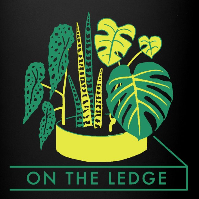 On The Ledge green logo print