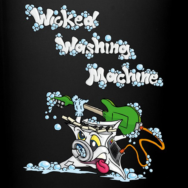 Wicked Washing Machine Cartoon and Logo
