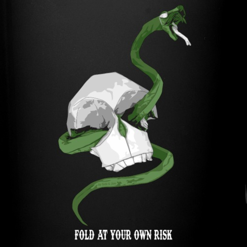 Serpent et crâne origami - Origami Snake & skull