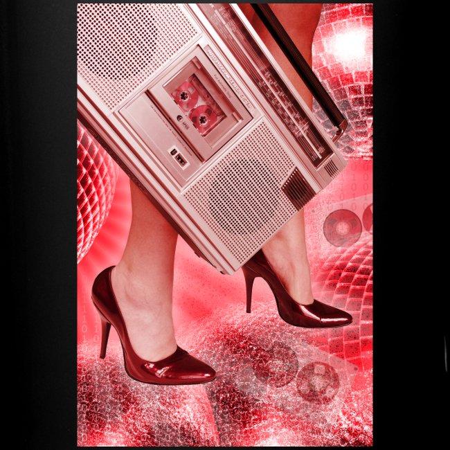 Cassetten Recorder und rote Pumps