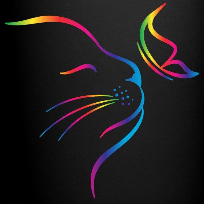 Vorschau: rainbow butterfly cat - Tasse einfarbig