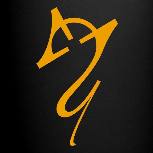 Overscoped logo yellow