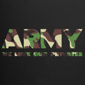 Militære / Soldiers: Army - We Love Our Private - Ensfarget kopp