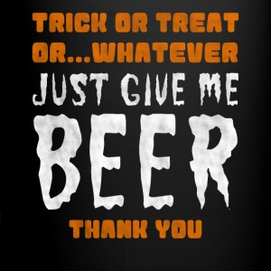 Billigt halloween alternativ: beer Shirt - Ensfarvet krus