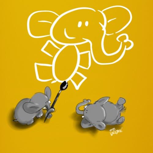 When elephants paint elephants. - Full Colour Mug