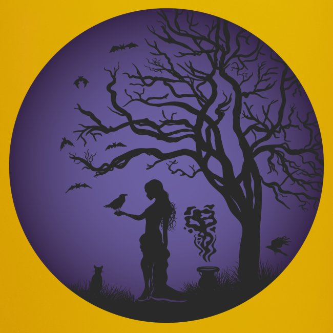 Halloween Silhouette Lila