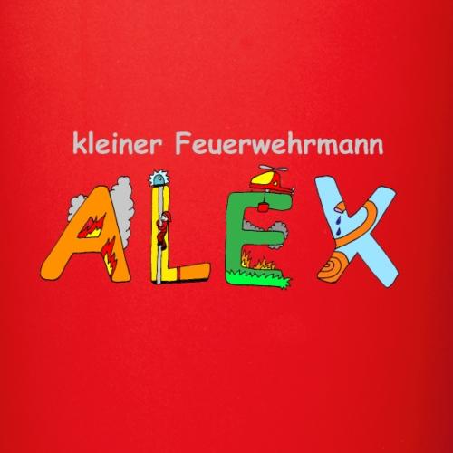 Alex Feuerwehr Kinder-Motiv mit Namen - Tasse einfarbig