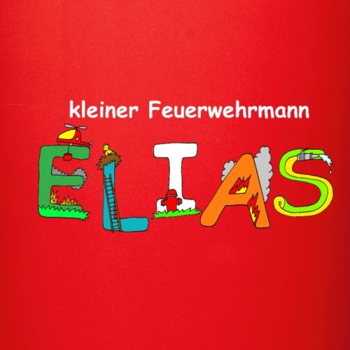 Elias tolles Feuerwehr Motiv mit Namen - Tasse einfarbig