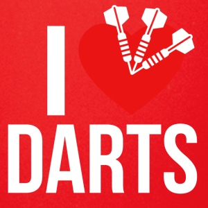 I LOVE DARTS WHITE - Tasse einfarbig
