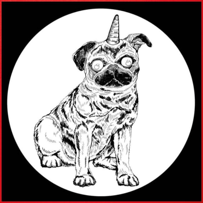 rysunek Pies-Jednorożec