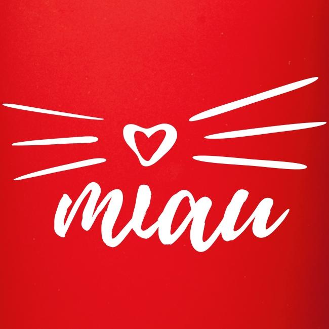 Vorschau: miau - Tasse einfarbig