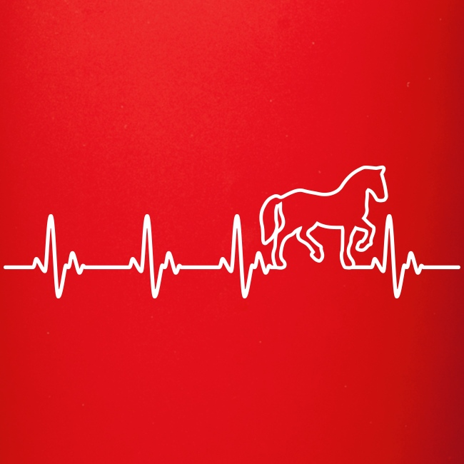 Vorschau: Horse Heartbeat - Tasse einfarbig