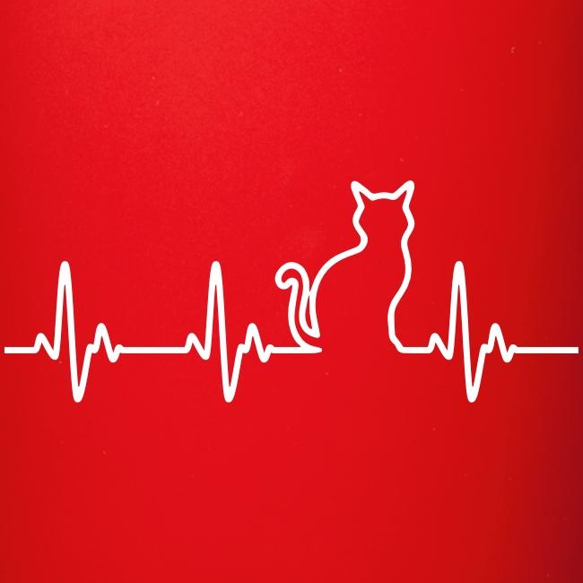 Vorschau: Ein Herz für Katzen - Tasse einfarbig