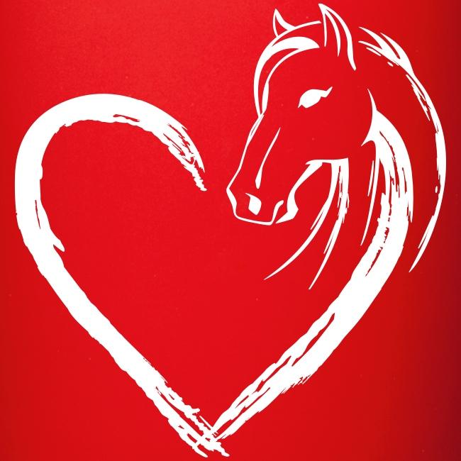 Vorschau: Pferde Herz - Tasse einfarbig