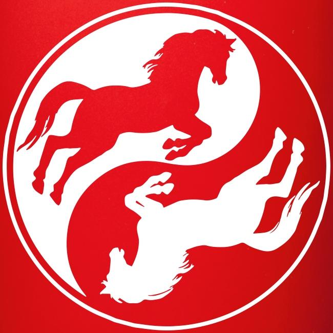 Vorschau: Horse Ying Yang - Tasse einfarbig