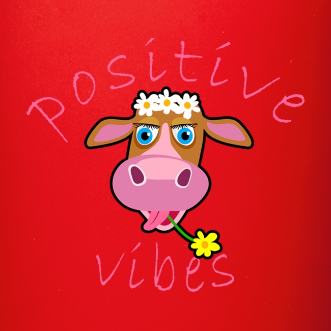 positive cow pink