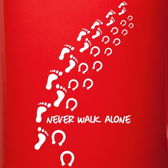 Vorschau: never walk alone horse - Tasse einfarbig