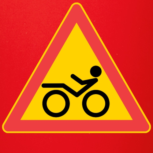 Traffic sign Recumbent - Yksivärinen muki
