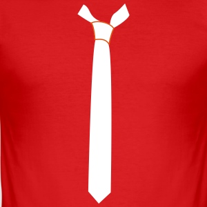 Fine Straight Tie - Men's Slim Fit T-Shirt