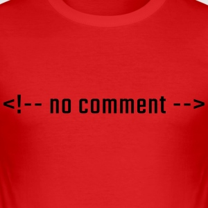 No comment - HTML lowercase - Men's Slim Fit T-Shirt