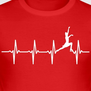 Your heart beats for figure skating? - Men's Slim Fit T-Shirt