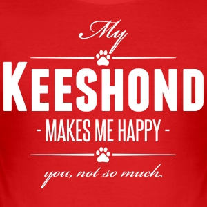 My Keeshond makes me happy - Men's Slim Fit T-Shirt