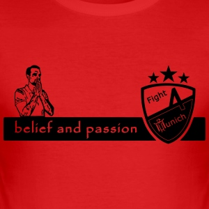 Fight 4 Munich - totaled and passion - Men's Slim Fit T-Shirt