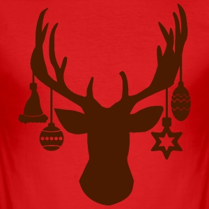 Ren jul prydnad Star Hat Antlers - Slim Fit T-shirt herr
