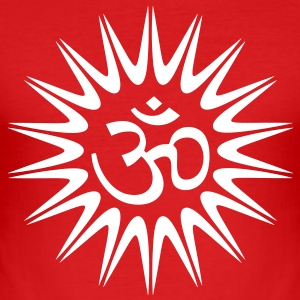 OM SUN - Männer Slim Fit T-Shirt
