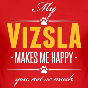My Vizsla makes me happy - Männer Slim Fit T-Shirt